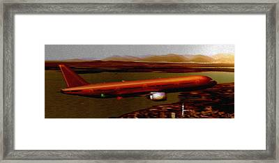 Guardian Over Seattle Framed Print by Marcello Cicchini