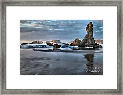 Guardian Rock Framed Print by Adam Jewell
