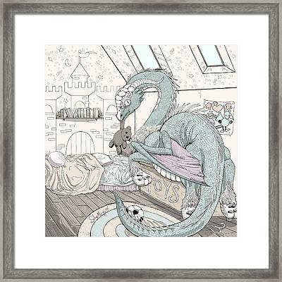 Guardian Framed Print by Solange Henson