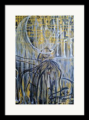 Guardian Whisper By Adrianajgarces Framed Prints