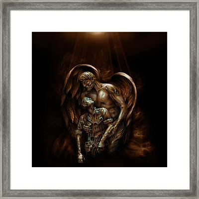 Guardian Framed Print by William Love