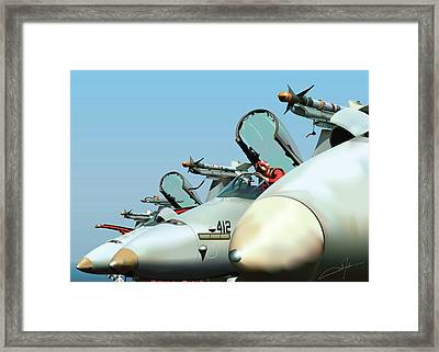 Guardians At Rest Framed Print by Dale Jackson