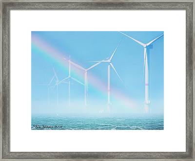 Guardians Of A Cerulean Sky Framed Print by Gate Gustafson