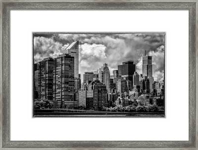 Framed Print featuring the photograph Guardians Of The City In New York by Linda Karlin