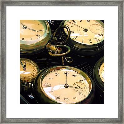 Guardians Of Time Framed Print by Denny Bond