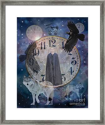 Guardians Of Time Framed Print by Judy Wood