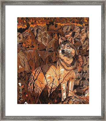 Guarding His Territory Framed Print