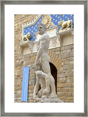 Guarding The Palace Framed Print