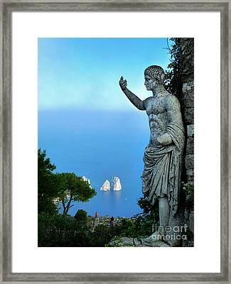 Framed Print featuring the photograph Guarding The Water by Mike Ste Marie