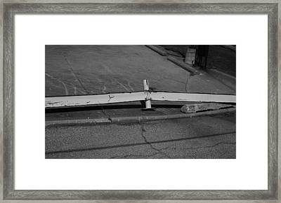 Guardrail Framed Print
