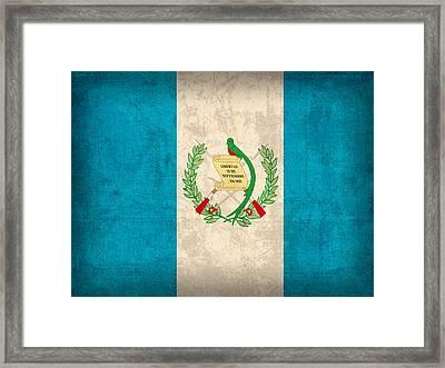 Guatemala Flag Vintage Distressed Finish Framed Print by Design Turnpike
