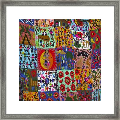 Guatemala Folk Art Quilt Framed Print