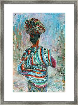 Framed Print featuring the painting Guatemala Impression I by Xueling Zou