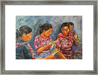 Framed Print featuring the painting Guatemala Impression IIi by Xueling Zou