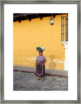 Guatemala Lady Framed Print by Carey Chen