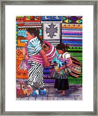 Guayabitos Mercado Framed Print