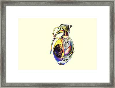 Guccified Paperweight. Framed Print by EXparte SE