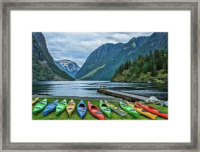 Gudvangen, Norway Fabulous Fjord Called Framed Print