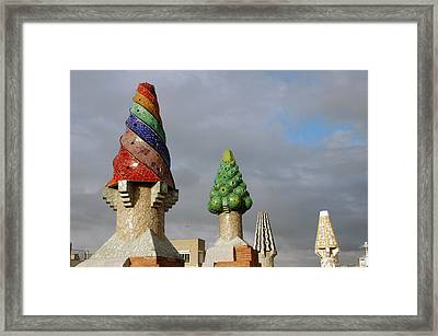 Guell Treetops Framed Print by Kathy Schumann