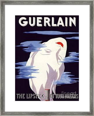 Guerlain 1938 1930s Uk Guerlain Framed Print