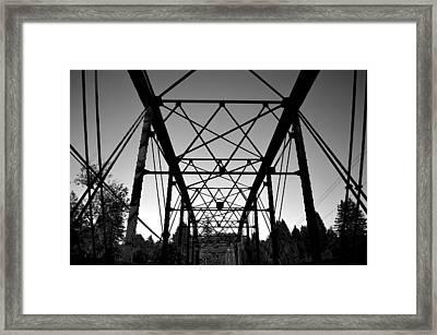 Guerneville Bridge Framed Print by Art K