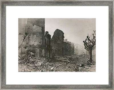 Guernica, In Ruins After A Series Framed Print by Everett