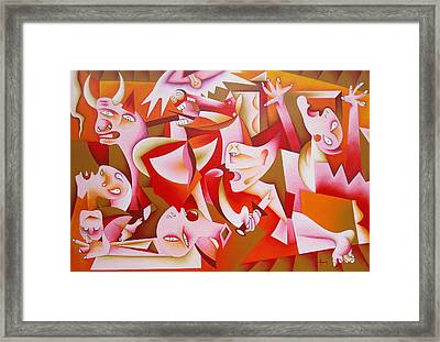 Guernica Framed Print by Marius Hociung