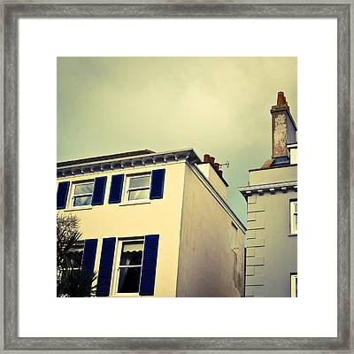 Guernsey Houses Framed Print by Tom Gowanlock