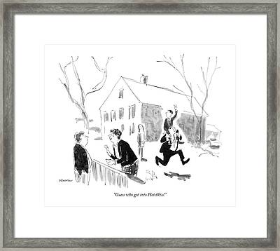 Guess Who Got Into Hotchkiss! Framed Print