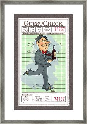 Guest Check Waiter Framed Print by Shari Warren
