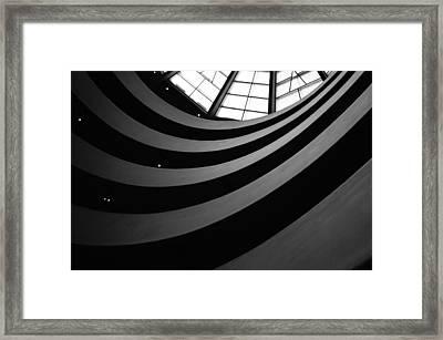 Guggenheim Inside 2 Framed Print by Becky Kozlen