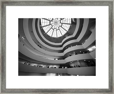Framed Print featuring the photograph Guggenheim Museum - Interior by James Howe