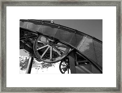 Guide Wheel Of An Old Cablecar In France Framed Print