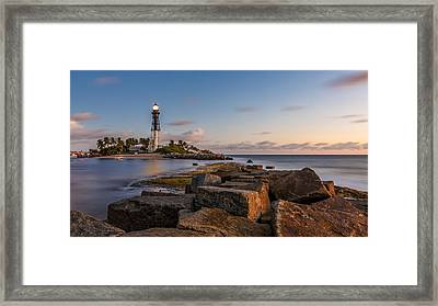 Guiding Light Framed Print by Claudia Domenig