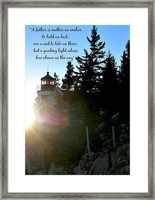 Guiding Light Framed Print by Terry DeLuco