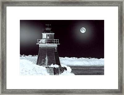 Guiding Lights Framed Print by Holly Kempe