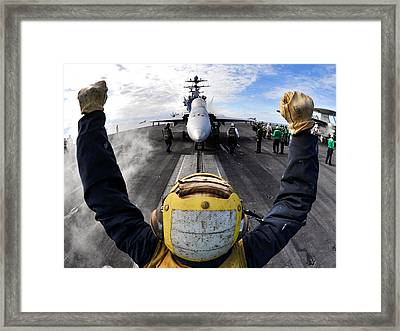 Guiding The Hornet Framed Print by Mountain Dreams