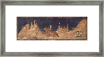 Guidoriccio Da Fogliano At The Siege Of Montemassi Framed Print