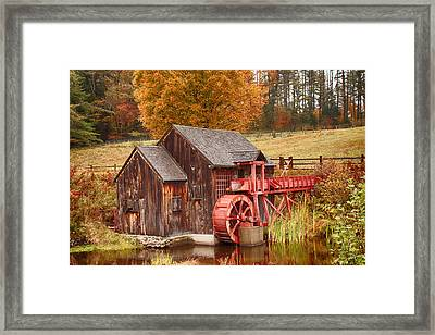 Framed Print featuring the photograph Guildhall Grist Mill by Jeff Folger