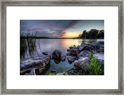 Guilford Lake Sunset Framed Print