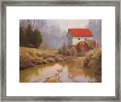 Guilford Mill En Plein Air Framed Print by Jeremy Sams