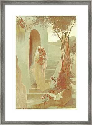 Guillaume Dubufe French, 1853 - 1909. Lenfant Framed Print