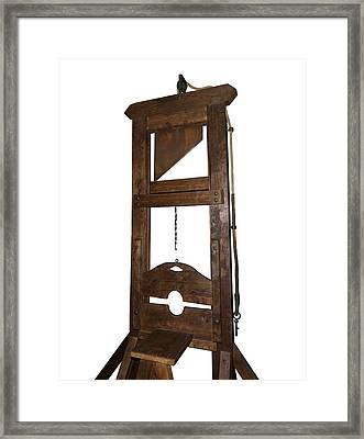 Guillotine From Spain Framed Print by David Parker
