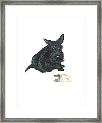 Guilty Framed Print by Margaryta Yermolayeva