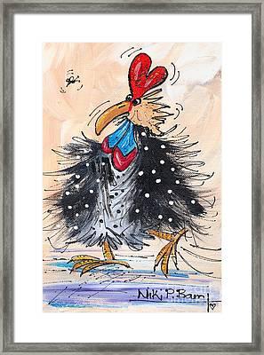 Guinea Fowl Framed Print by Niki P Bam