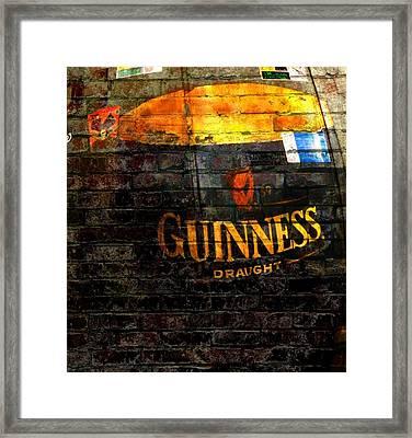 Guinness Cooler Framed Print by Chris Berry