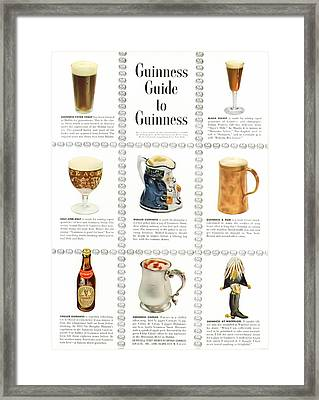 Guinness Guide To Guinness Framed Print by Georgia Fowler