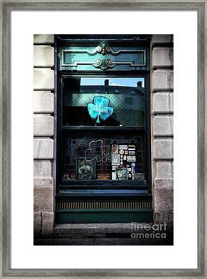 Guinness Shamrock Framed Print by John Rizzuto