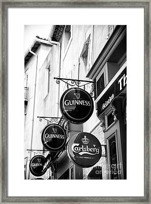 Guinness Three Times Framed Print
