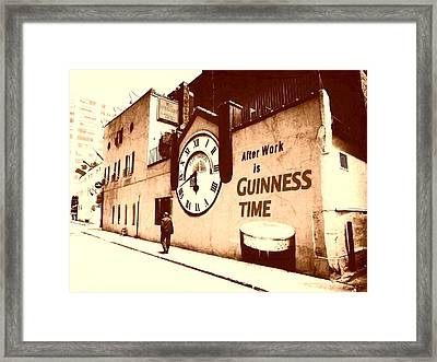 Guinness Time Framed Print